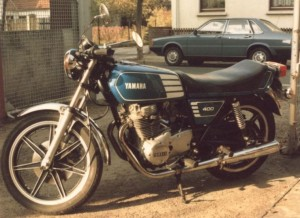 XS400 - meine Nr. 1 - irgendwann um 1985 ...