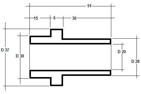 Zeichnung Hülse links 1.1