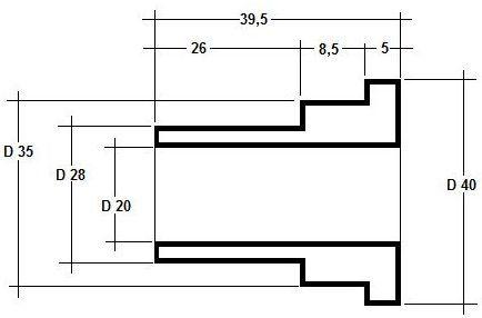 Zeichnung Hülse rechts 1.2
